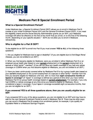 Medicare Special Enrollment - Fill Online, Printable, Fillable ...