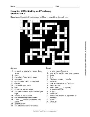 houghton mifflin spelling and vocabulary grade 4 pdf