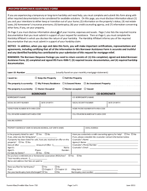 Ew Uniform Borrower Assistance Form 710 - Fill Online, Printable ...