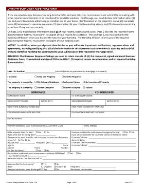 Ew Uniform Borrower Assistance Form 710 - Fill Online, Printable ...