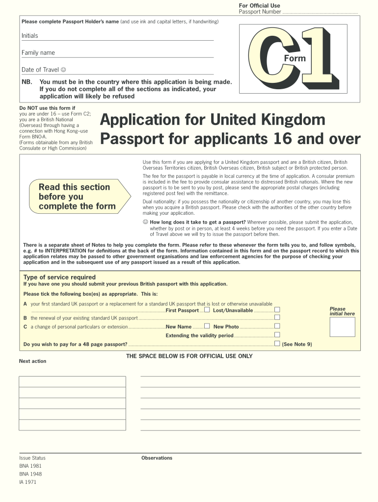 It's just a picture of Magic Printable Passport Application Forms