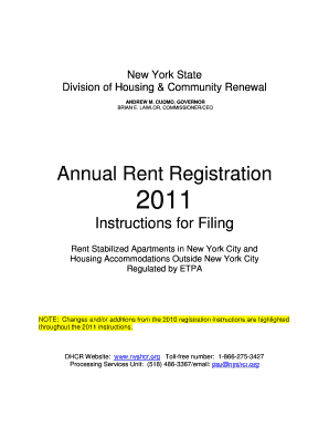 Annual Rent Registration For Ny - Fill Online, Printable
