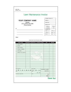 Bill Boik Sample For Lawn Fill Online Printable Fillable Blank - Fillable invoice template free for service business