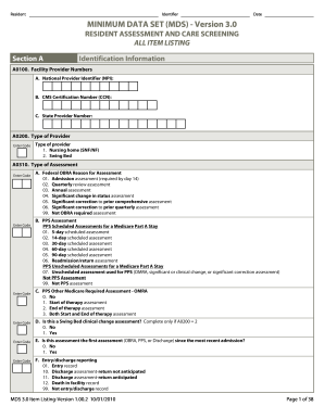 Form Mds - Fill Online, Printable, Fillable, Blank | PDFfiller
