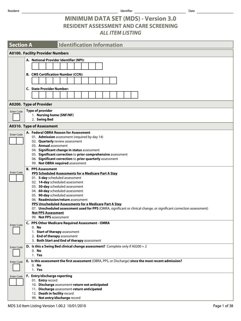 mds 3.0 form download