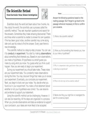 Reading Comprehension Worksheets For 3rd Grade - Fill ...