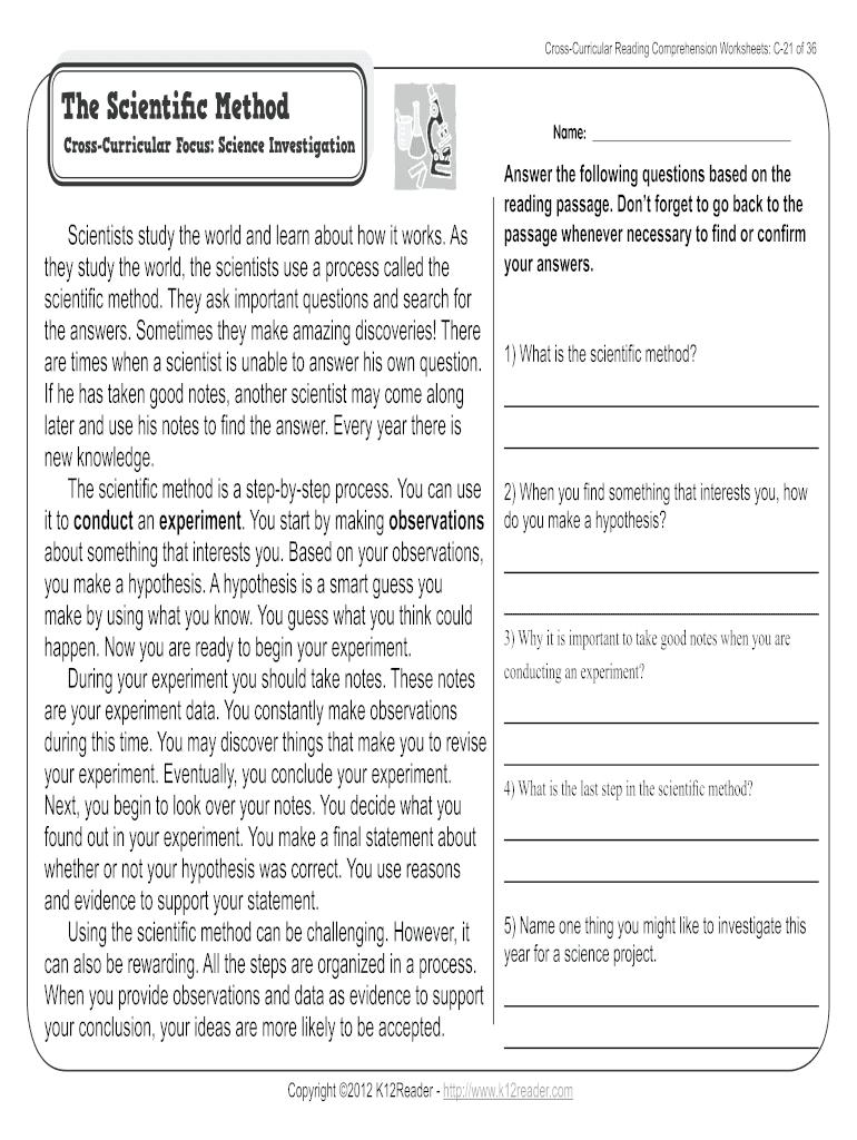 - Reading Comprehension Worksheets For 3rd Grade - Fill Online