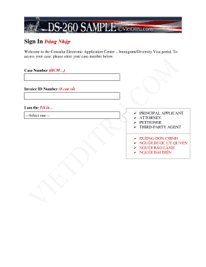Ds 260 Sample Fill Online Printable Fillable Blank Pdffiller