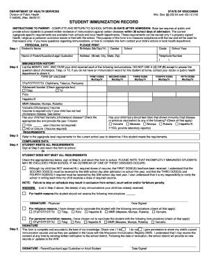 Immunization Form - Fill Online, Printable, Fillable, Blank ...