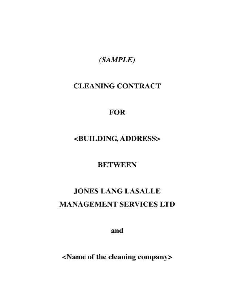 It's just a photo of Ambitious Free Printable Cleaning Contract Template Pdf