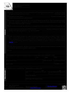 2010 form mo dor 768 fill online printable fillable blank pdffiller. Black Bedroom Furniture Sets. Home Design Ideas