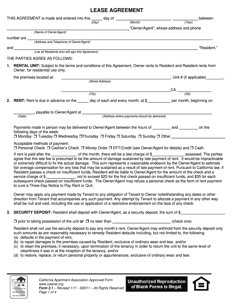 California Apartment ociation Lease Agreement - Fill ... on standard employee application form, application to rent form, personal information application form, residential application form, apartment notice to vacate form, apartment rental letter of recommendation, healthcare application form, security application form, job application form, apartment rental information, apartment rental contract template, apartment rental documents, apartment deposit form, apartment rental rules, california rent application form, property application form, apartment rental agreement format, apartment applications online, apartment service request form, lease application form,