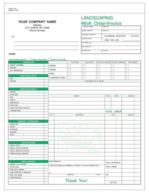 Masonry Invoice