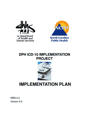 NC Division of Public Health ICD-10 Implementation Plan NC Division of Public Health ICD-10 Implementation Plan - publichealth nc