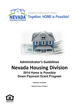 Nevada Housing Division Home Is Possible 9-15-14 pages