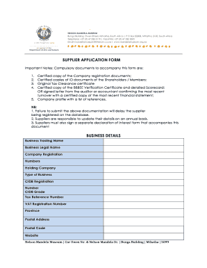 SUPPLIER APPLICATION FORM BUSINESS DETAILS