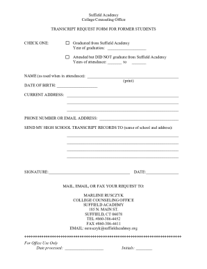 20 Printable how to write a request letter for transcript of