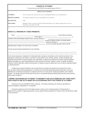 Pdf Da Form 5841 - Fill Online, Printable, Fillable, Blank | PDFfiller
