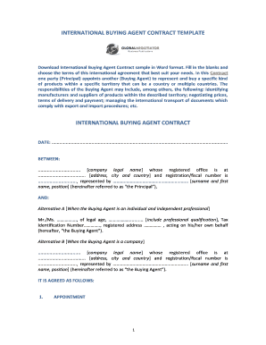 international buying agent contract form