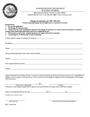 Town Of Davie Building Department Forms