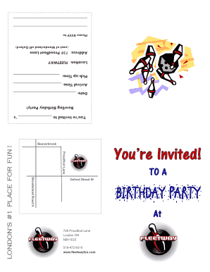 invites bowling parties form