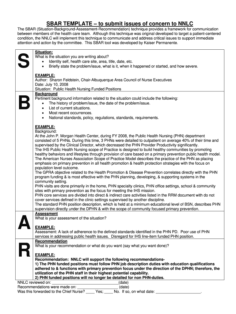 Sbar Download - Fill Online, Printable, Fillable, Blank  pdfFiller For Sbar Template Word