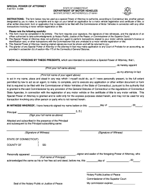 Bill of sale form florida motor vehicle power of attorney for Power of attorney to transfer motor vehicle form