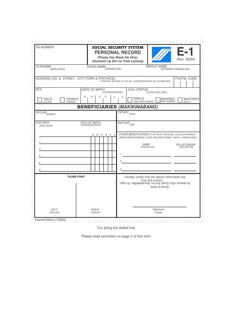 Sss Online Registration - Fill Online, Printable, Fillable