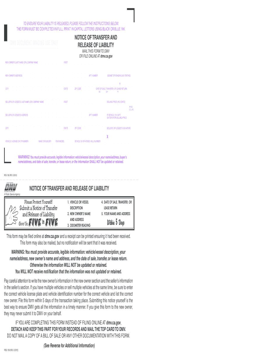 Dmv Release Of Liability
