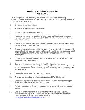 Bankruptcy Fillable Intake Form Pdf - Fill Online, Printable ...