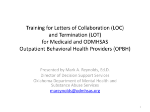 Training for Letters of Collaboration LOC and Termination LOT for - ok