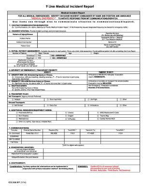 Fillable Online gacc nifc MEDICAL PLAN ICS 206 WF form Fax Email ...