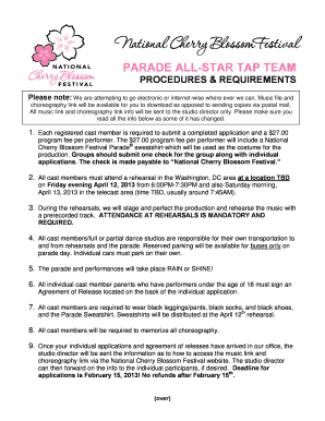 National Cherry Blossom Festival Worksheets - Fill Online ...