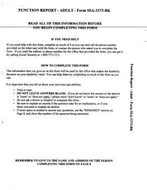 Form Ssa 3373 Bk 9 2004 Ef - Fill Online, Printable, Fillable ...