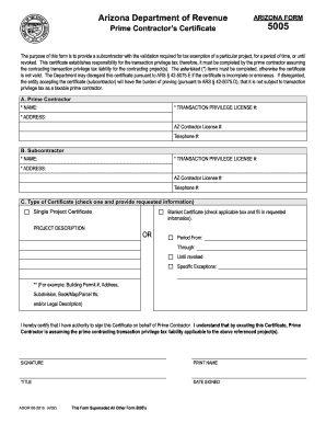 2002 Form Az Dor 5005 Fill Online Printable Fillable Blank