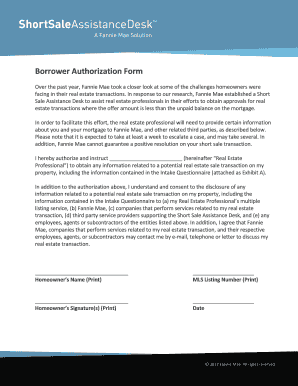 Fannie Mae Authorization - Fill Online, Printable, Fillable, Blank ...