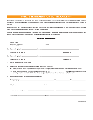 settlement form auto related content agreement