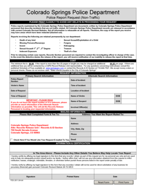 police report forms and templates fillable & printable