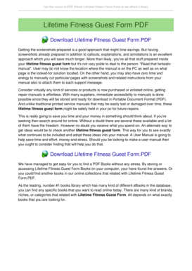 Fillable Online Lifetime Fitness Guest Form lifetime fitness guest ...