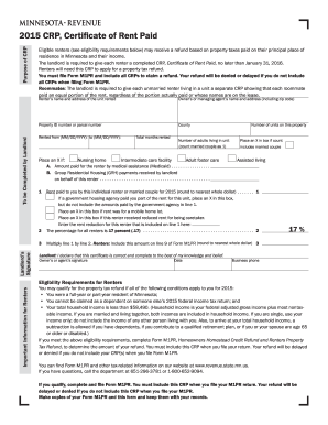 2016 Form MN DoR CRP Fill Online, Printable, Fillable, Blank ...