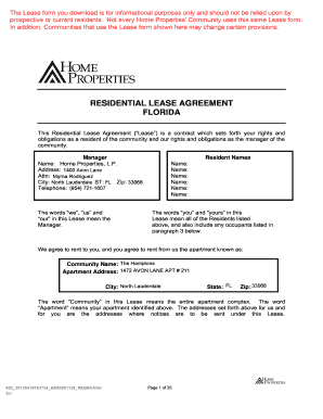 Fillable Florida Lease Fill Online Printable Fillable