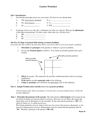 Genetics Worksheet - Fill Online, Printable, Fillable, Blank ...