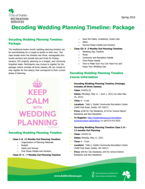 Decoding Wedding Planning Timeline Package