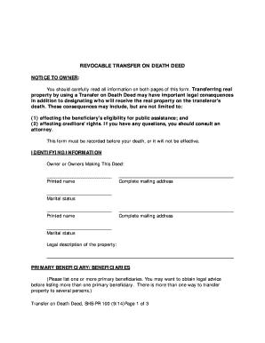 arkansas transfer on death deed - Edit & Fill Out Online