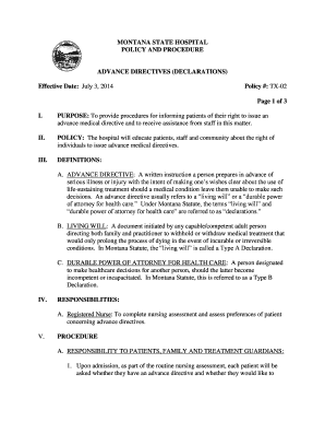 Advance Directive Definition Medical