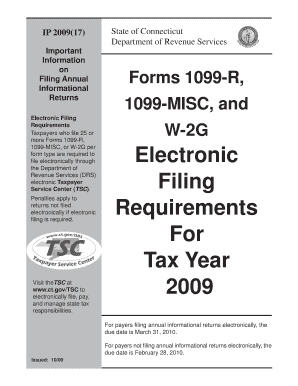 Fillable Online ct IP 2009 (17), Forms 1099-R, 1099-MISC, and W-2G ...