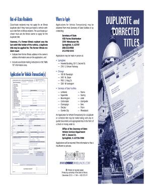 Illinois Vsd 190 Formpdffillercom - Fill Online, Printable ...