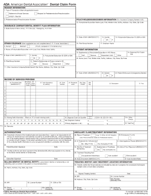 Dental Claim Forms J430d - Fill Online, Printable, Fillable, Blank ...