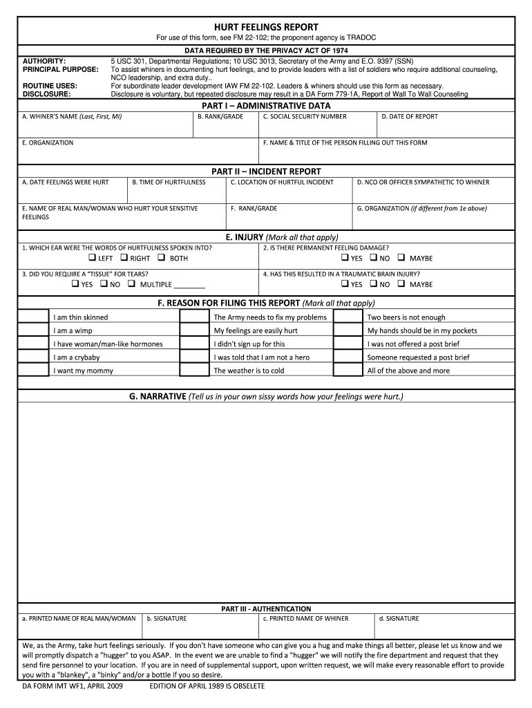image about Butthurt Report Form Printable titled Damage Thoughts Write-up - Fill On line, Printable, Fillable