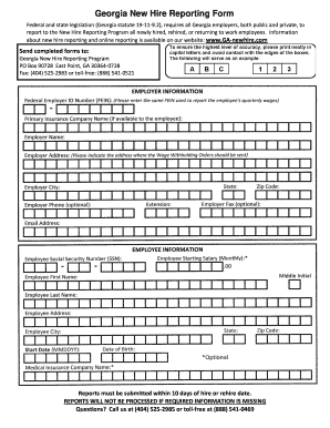 Georgia New Hire Form - Fill Online, Printable, Fillable, Blank ...